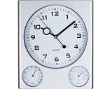 Wanduhr mit Hygrometer und Thermometer aus Kunststoff